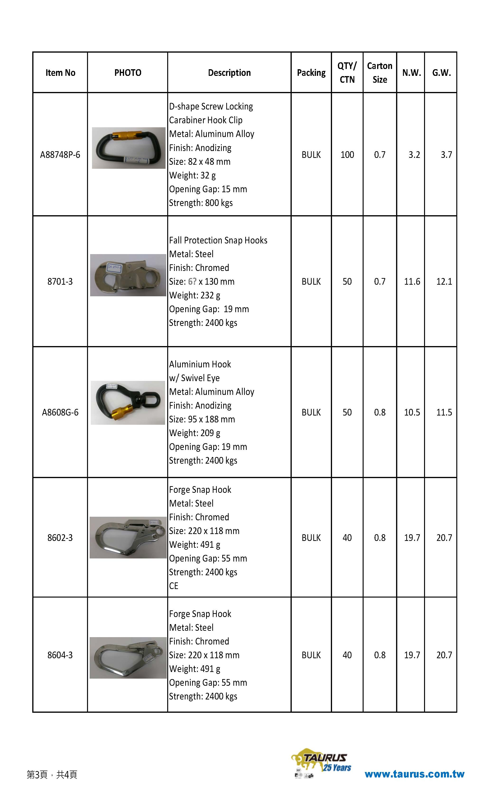 Carabiner Hook product list 20190425 1
